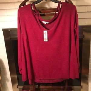 NWT cold shoulder oversized sweatshirt
